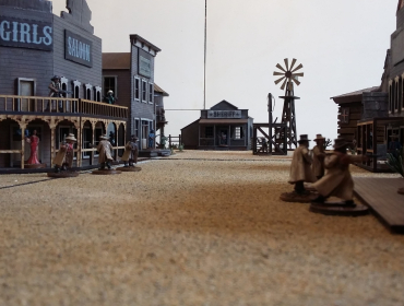 3d storico Old West Town